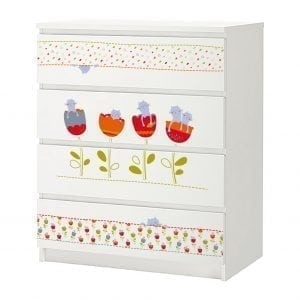 ikea malm stickers polini kids